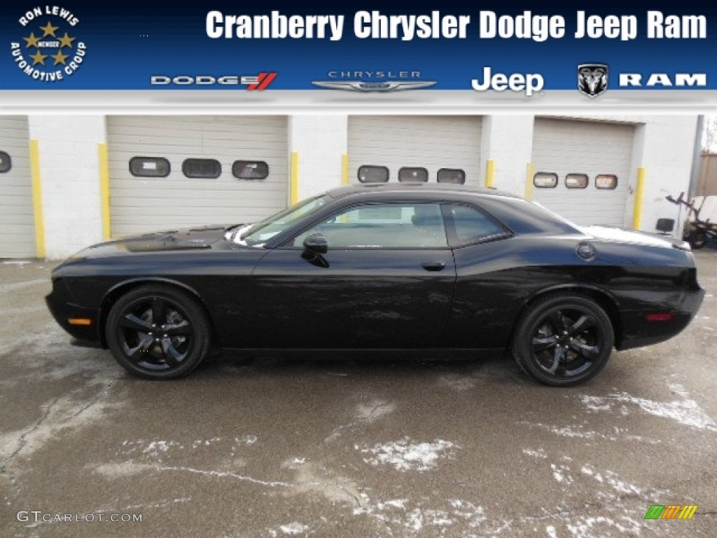Pitch black dodge challenger