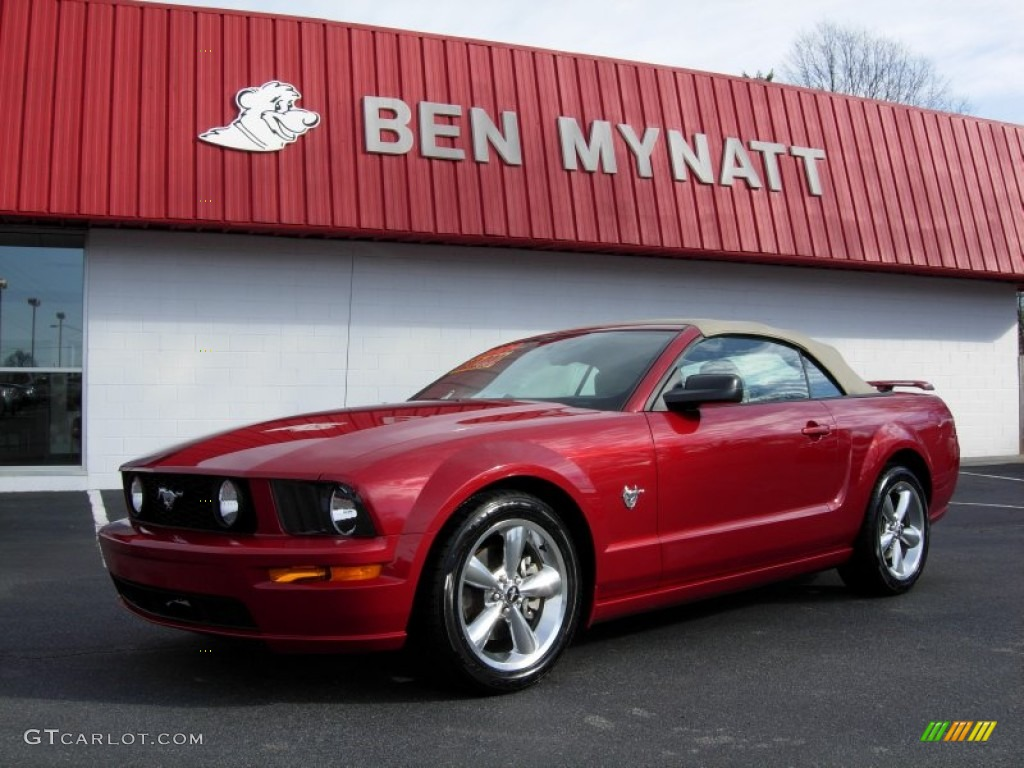 2009 Dark Candy Apple Red Ford Mustang Gt Premium