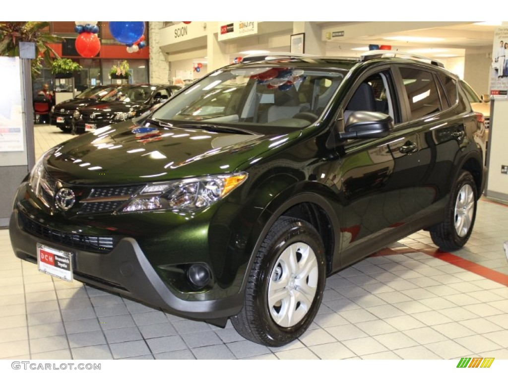 2013 spruce green mica toyota rav4 le awd 76740683 photo. Black Bedroom Furniture Sets. Home Design Ideas