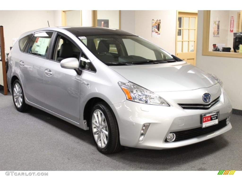 2013 classic silver metallic toyota prius v five hybrid 76740679 car color. Black Bedroom Furniture Sets. Home Design Ideas