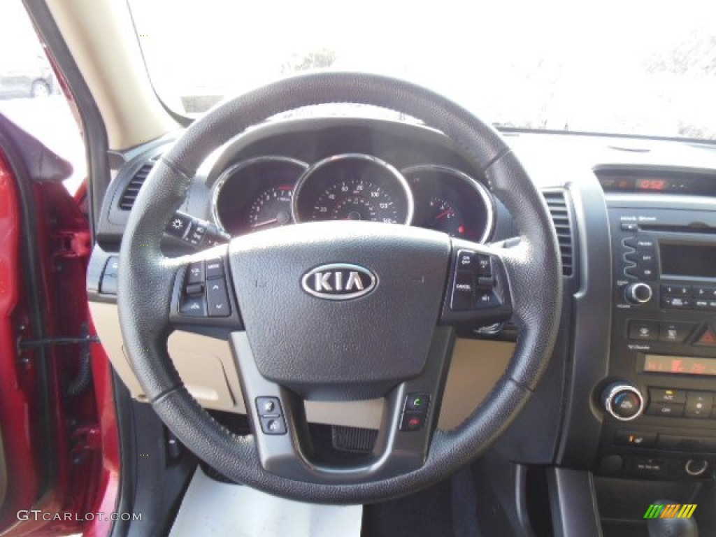 2011 Sorento EX - Spicy Red / Beige photo #18