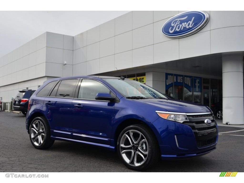 deep impact blue metallic 2013 ford edge sport exterior photo 76790240. Black Bedroom Furniture Sets. Home Design Ideas