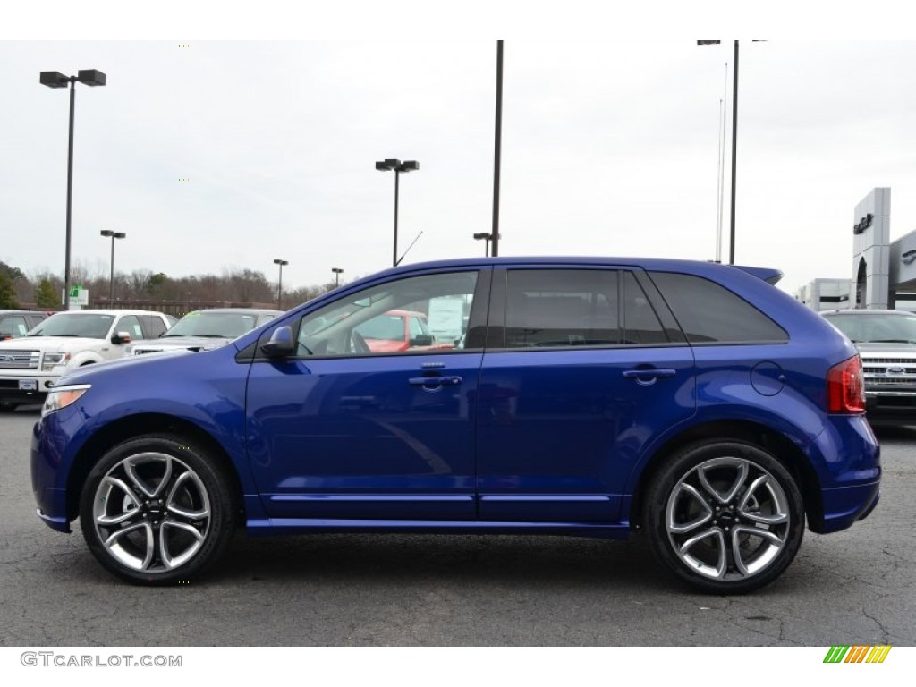 2013 ford edge sport deep impact blue. Black Bedroom Furniture Sets. Home Design Ideas