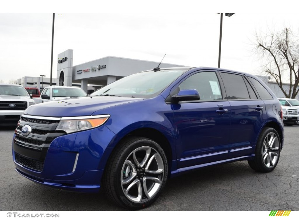 deep impact blue metallic 2013 ford edge sport exterior photo 76790345. Black Bedroom Furniture Sets. Home Design Ideas