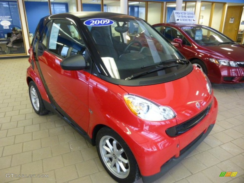 2009 rally red smart fortwo passion coupe 76773869 car color galleries. Black Bedroom Furniture Sets. Home Design Ideas