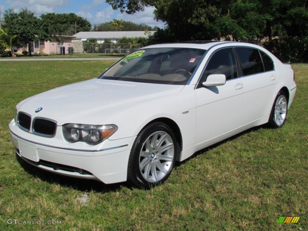 Alpine White 2004 BMW 7 Series 745Li Sedan Exterior Photo 76809039