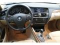 2013 BMW X3 Sand Beige Interior Dashboard Photo