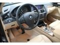 2013 BMW X3 Sand Beige Interior Prime Interior Photo