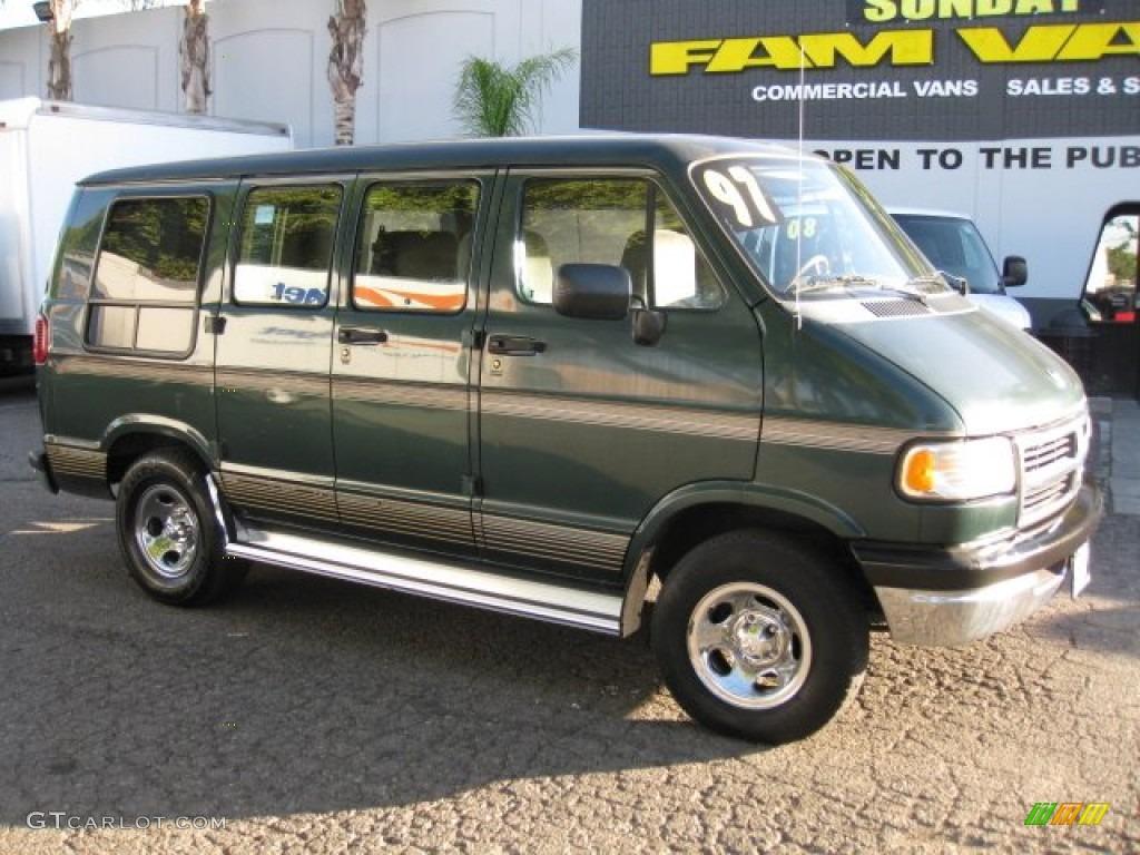 1997 Dark Spruce Green Metallic Dodge Ram Van 2500 Conversion 76803864 Gtcarlot Com Car Color Galleries