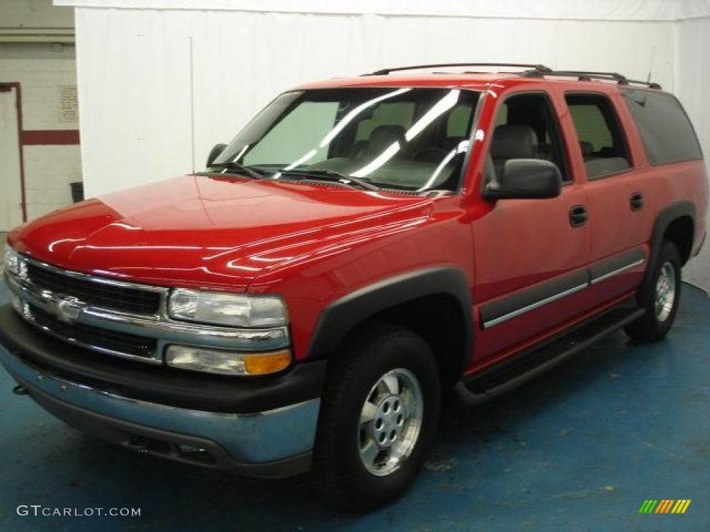2001 suburban 1500 ls 4x4 victory red light gray neutral photo 1