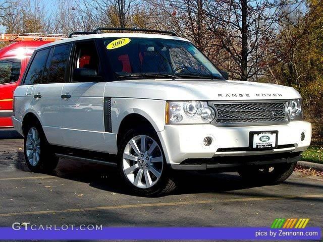 2007 Range Rover Supercharged - Chawton White / Jet Black photo #1