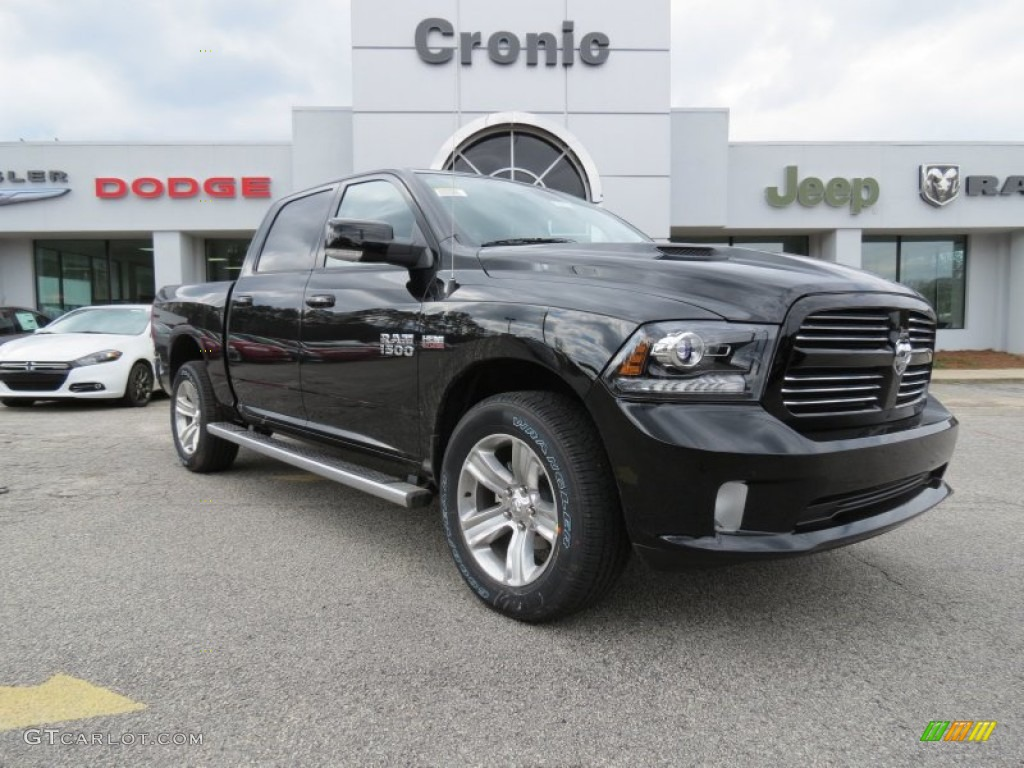 2013 black ram 1500 sport crew cab 4x4 76804095 photo 3 car color galleries. Black Bedroom Furniture Sets. Home Design Ideas