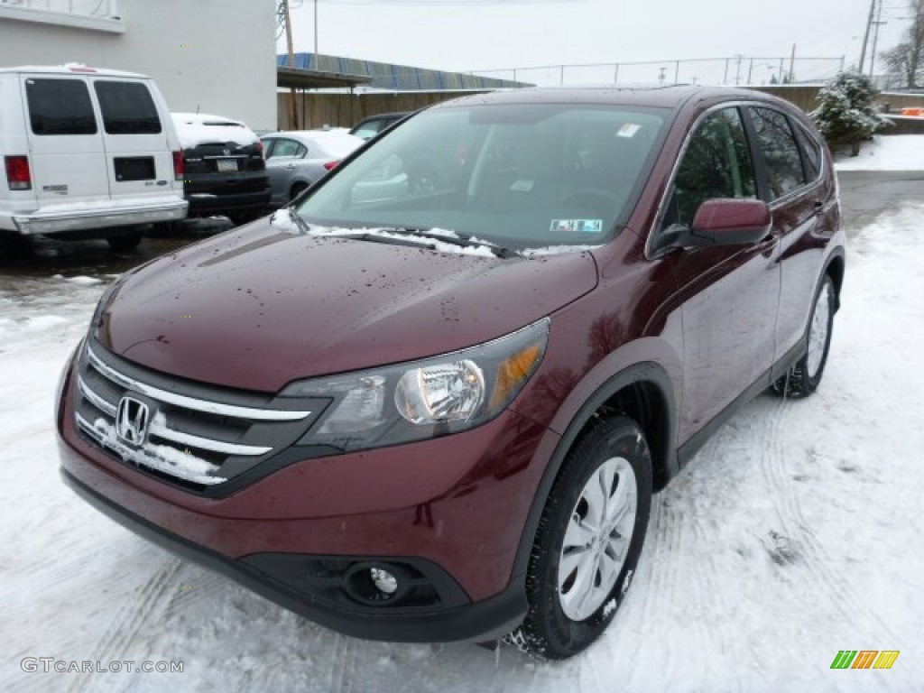 Basque Red Pearl Ii 2013 Honda Cr V Ex Awd Exterior Photo 76844656