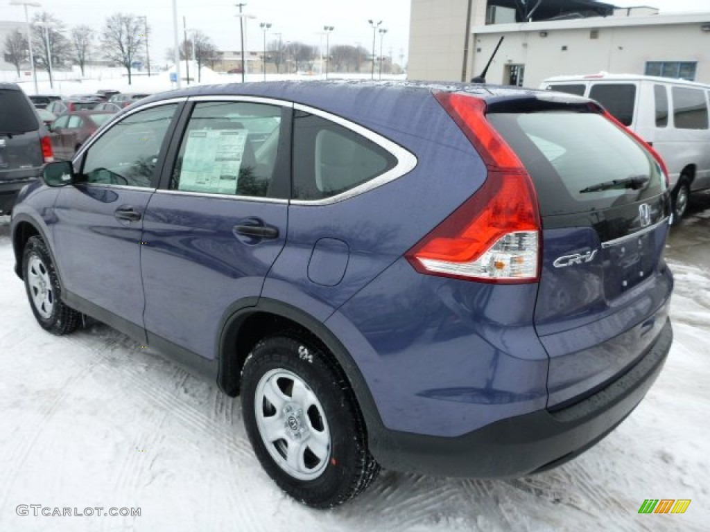 2013 CR-V LX AWD - Twilight Blue Metallic / Gray photo #2