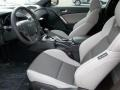Gray Leather/Gray Cloth Interior Photo for 2013 Hyundai Genesis Coupe #76850226