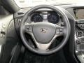 Gray Leather/Gray Cloth Steering Wheel Photo for 2013 Hyundai Genesis Coupe #76850424