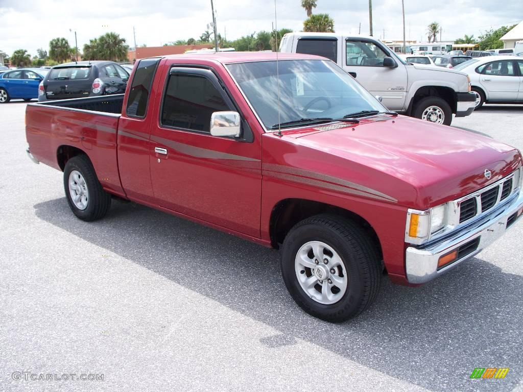 1997 aztec red nissan hardbody truck xe extended cab 7661655 photo 3 car. Black Bedroom Furniture Sets. Home Design Ideas