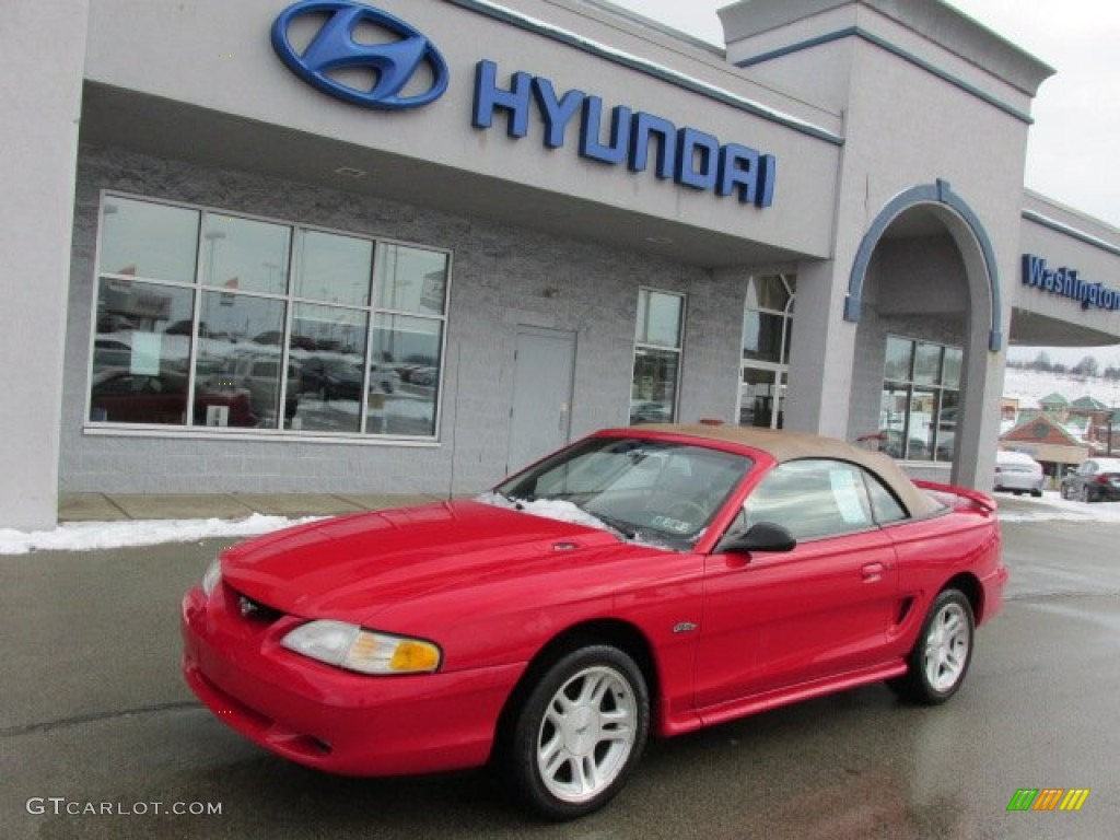 Vermillion Red Ford Mustang Gt Convertible