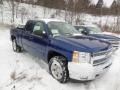 2013 Blue Topaz Metallic Chevrolet Silverado 1500 LT Extended Cab 4x4  photo #2