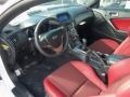 Red Leather/Red Cloth Prime Interior Photo for 2013 Hyundai Genesis Coupe #76901691