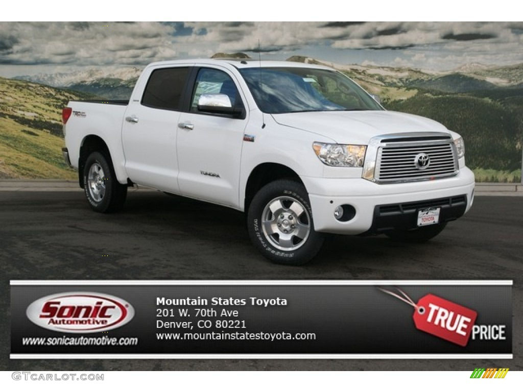 2013 Tundra Limited CrewMax 4x4 - Super White / Red Rock photo #1