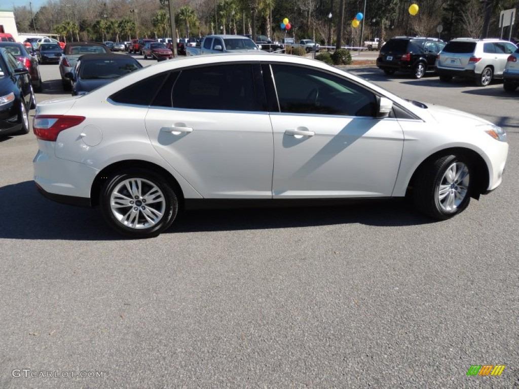 2012 Focus SEL Sedan - White Platinum Tricoat Metallic / Charcoal Black photo #12