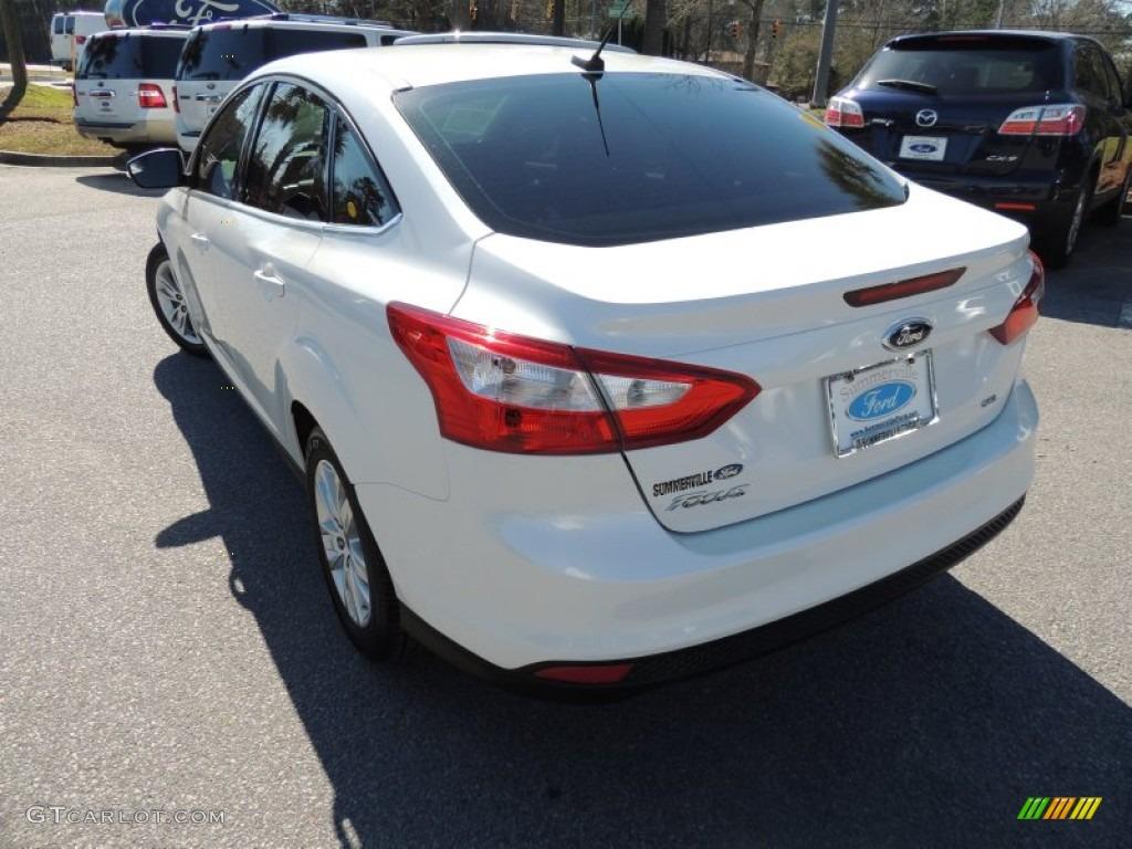 2012 Focus SEL Sedan - White Platinum Tricoat Metallic / Charcoal Black photo #15