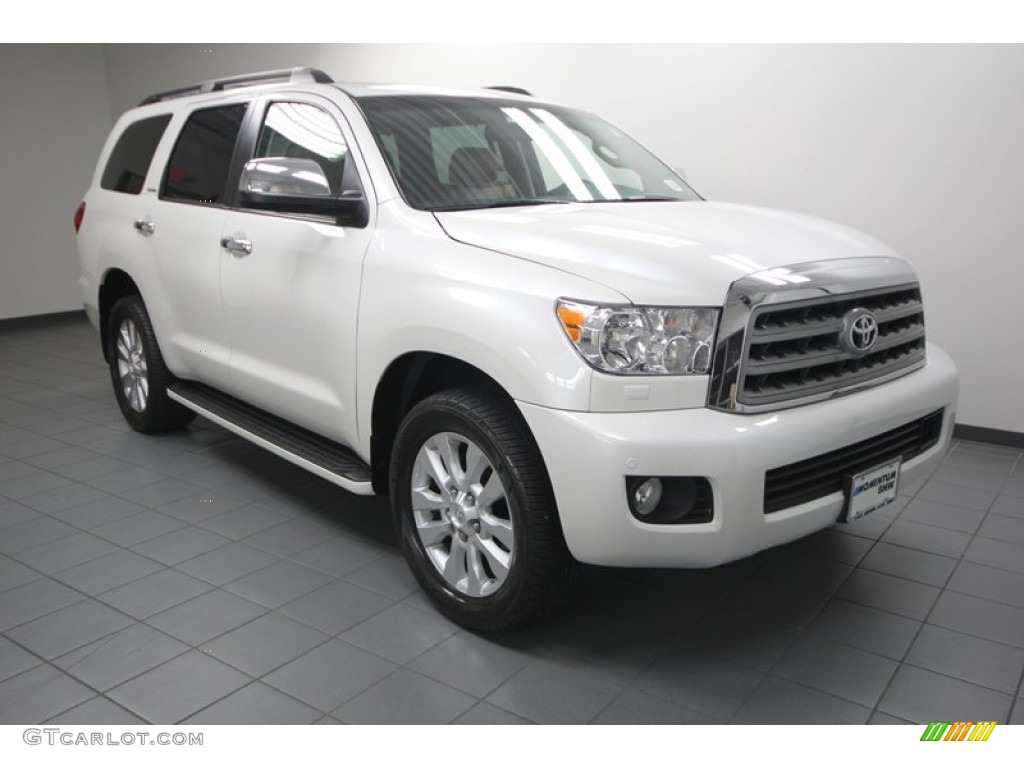 2011 blizzard white pearl toyota sequoia platinum 4wd. Black Bedroom Furniture Sets. Home Design Ideas