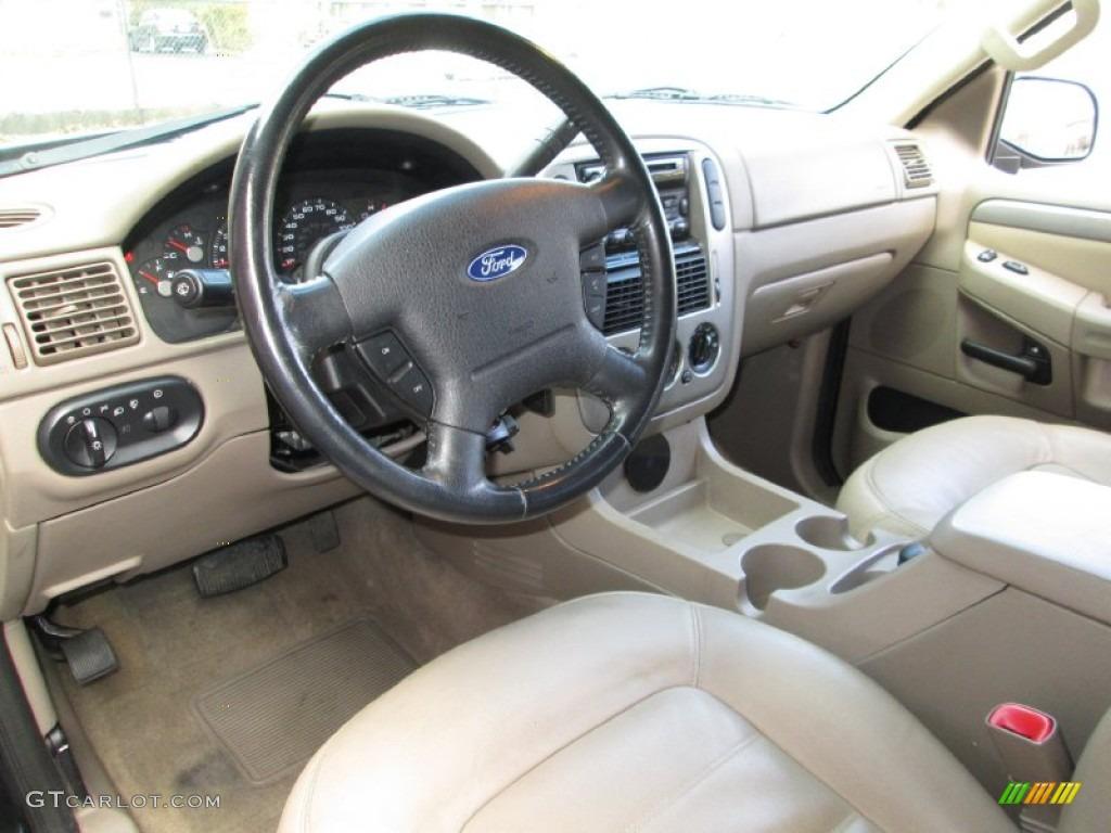 Medium Parchment Beige Interior 2003 Ford Explorer Xlt Awd