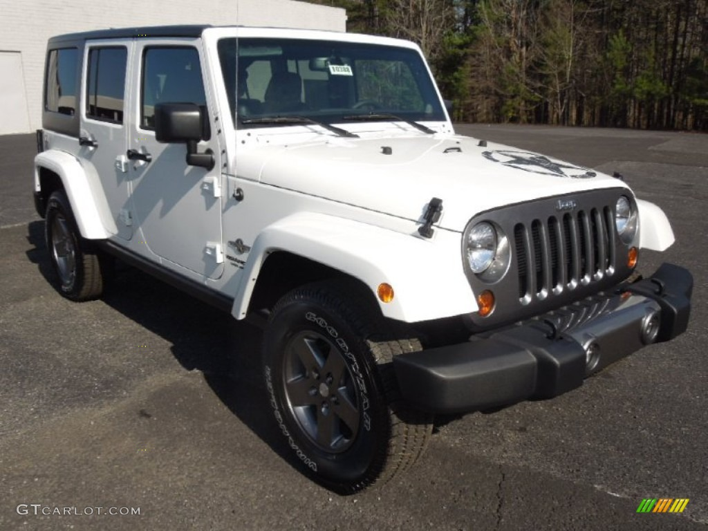 Bright White Jeep Wrangler Unlimited. Jeep Wrangler Unlimited Oscar Mike Freedom  Edition 4x4