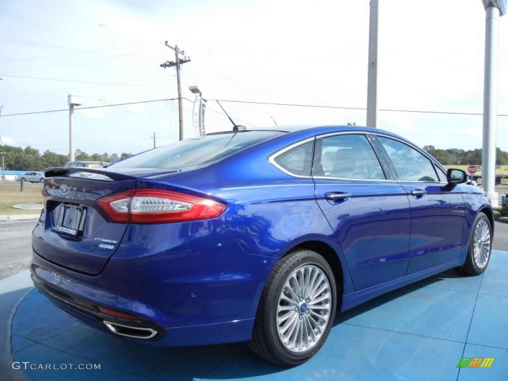 Deep Impact Blue Metallic 2013 Ford Fusion Titanium Exterior Photo 76945181