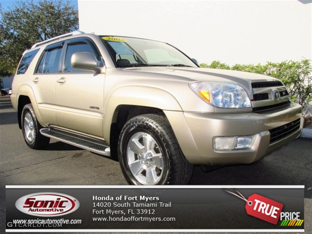 2004 dorado gold pearl toyota 4runner limited 76928673 car color galleries. Black Bedroom Furniture Sets. Home Design Ideas