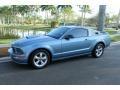 2007 Windveil Blue Metallic Ford Mustang GT Premium Coupe  photo #2