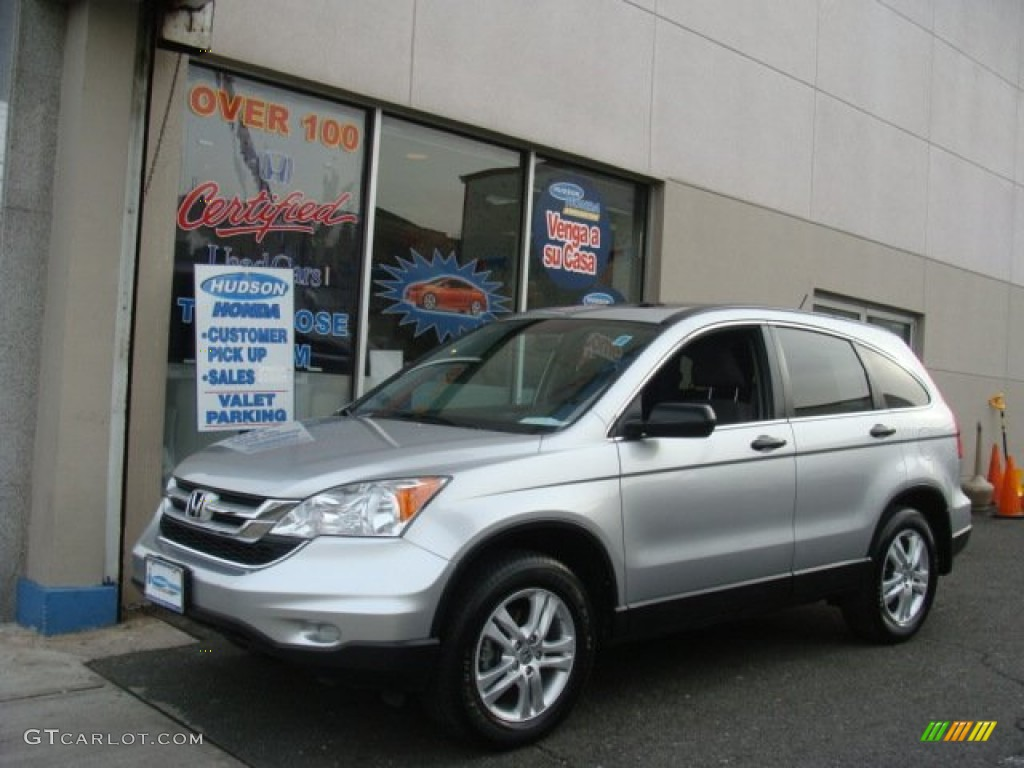 2010 CR-V EX AWD - Alabaster Silver Metallic / Gray photo #1