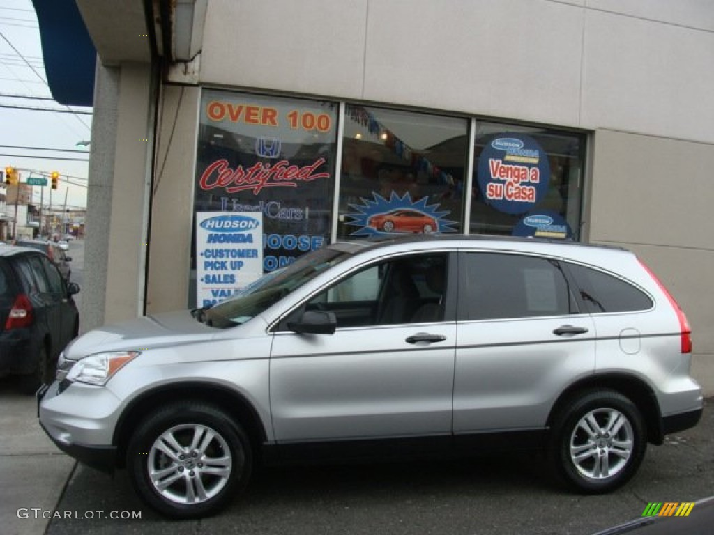 2010 CR-V EX AWD - Alabaster Silver Metallic / Gray photo #3