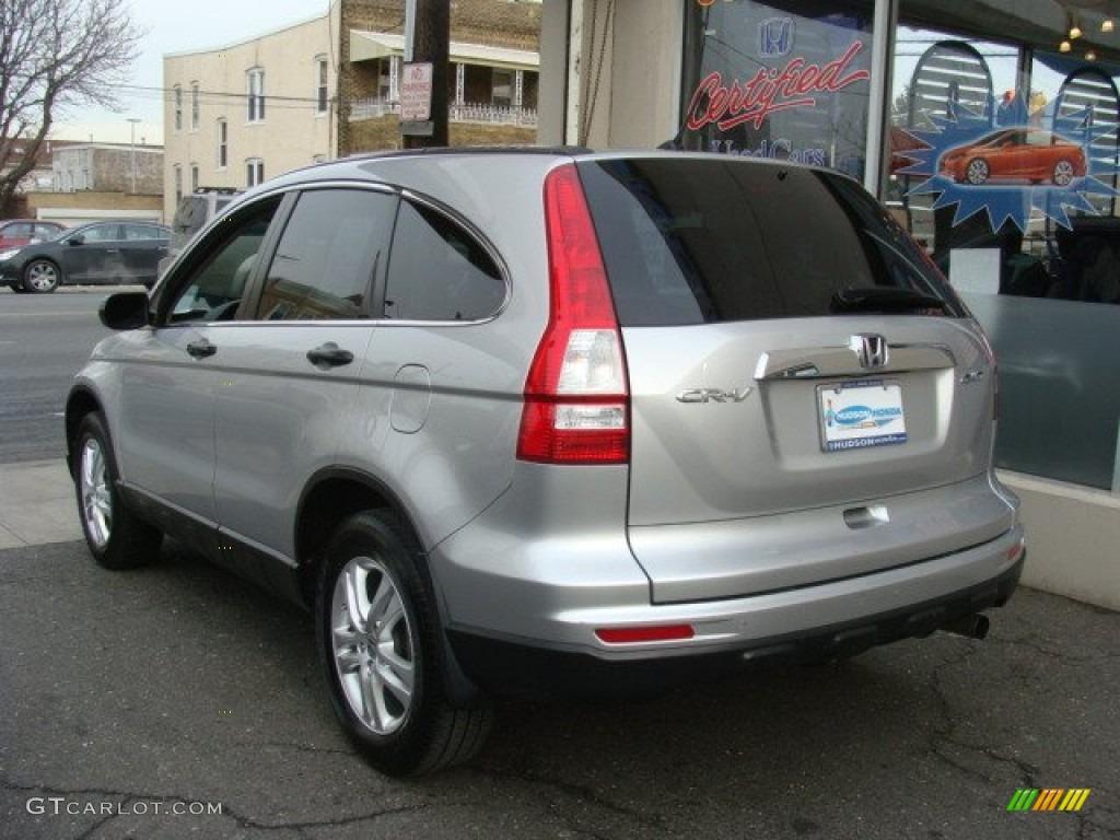 2010 CR-V EX AWD - Alabaster Silver Metallic / Gray photo #4