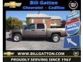 2013 Mocha Steel Metallic Chevrolet Silverado 1500 LT Crew Cab 4x4  photo #1