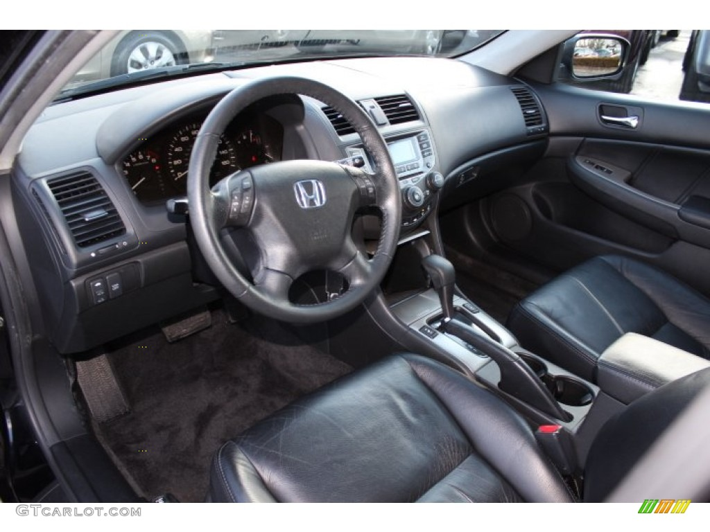 Black Interior 2007 Honda Accord Ex L V6 Sedan Photo