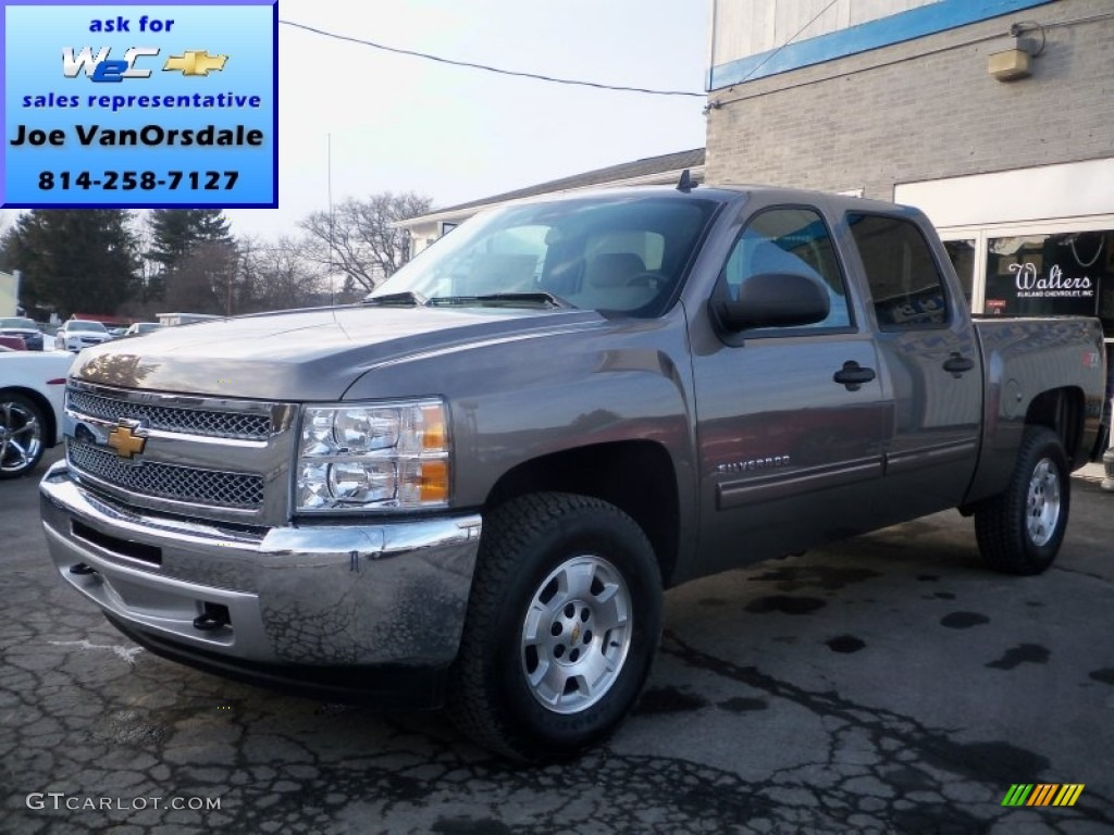 2013 Silverado 1500 LT Crew Cab 4x4 - Mocha Steel Metallic / Light Cashmere/Dark Cashmere photo #1