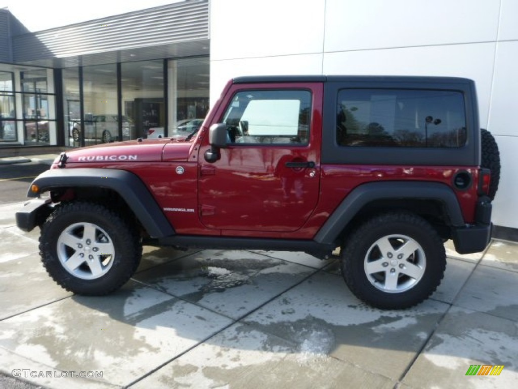 Deep Cherry Red Crystal Pearl 2011 Jeep Wrangler Rubicon 4x4 Exterior Photo 76974016