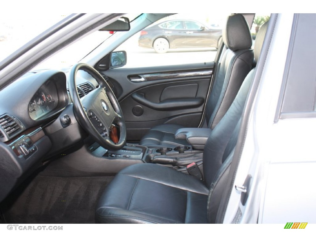 Black Interior 1999 BMW 3 Series 323i Sedan Photo