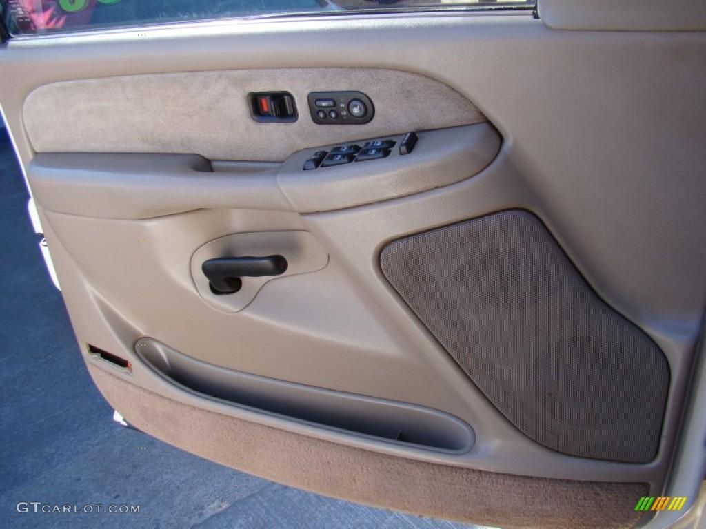 2002 Chevrolet Silverado 3500 LT Crew Cab 4x4 Chassis Tan Door Panel Photo #76995547