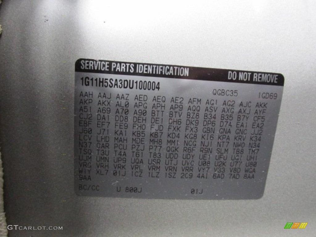 2013 Chevrolet Malibu LTZ Color Code Photos