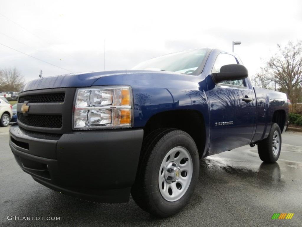 2013 Silverado 1500 Work Truck Regular Cab - Blue Topaz Metallic / Dark Titanium photo #3