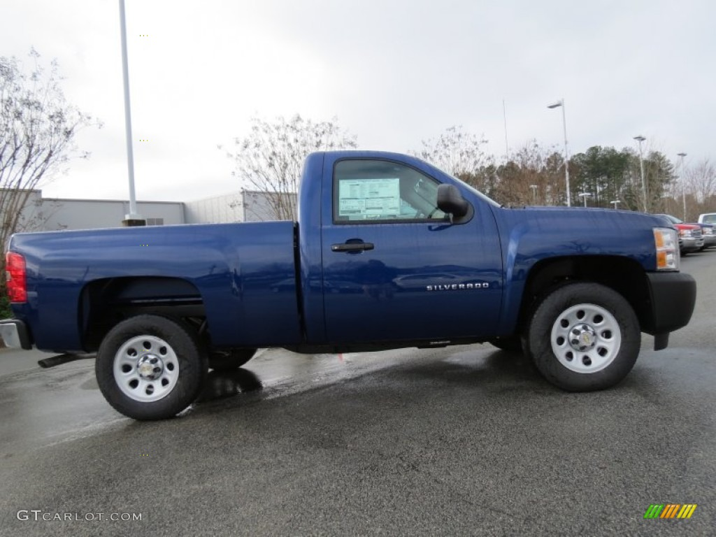 2013 Silverado 1500 Work Truck Regular Cab - Blue Topaz Metallic / Dark Titanium photo #8