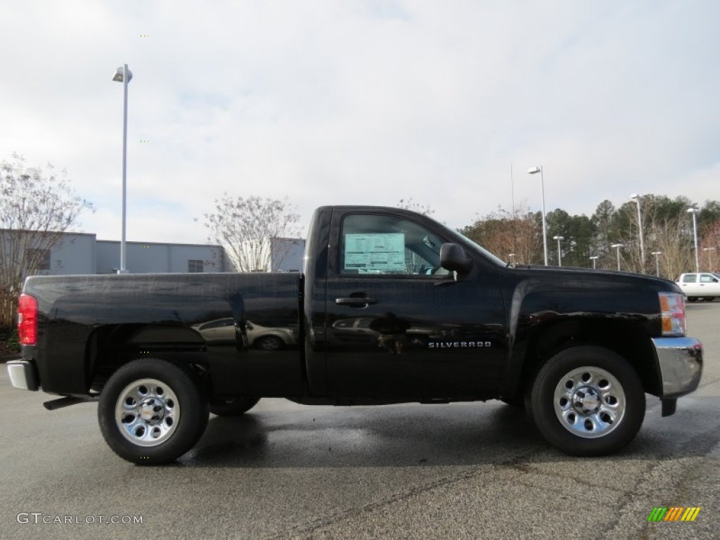 2013 Silverado 1500 LS Regular Cab - Black / Dark Titanium photo #8