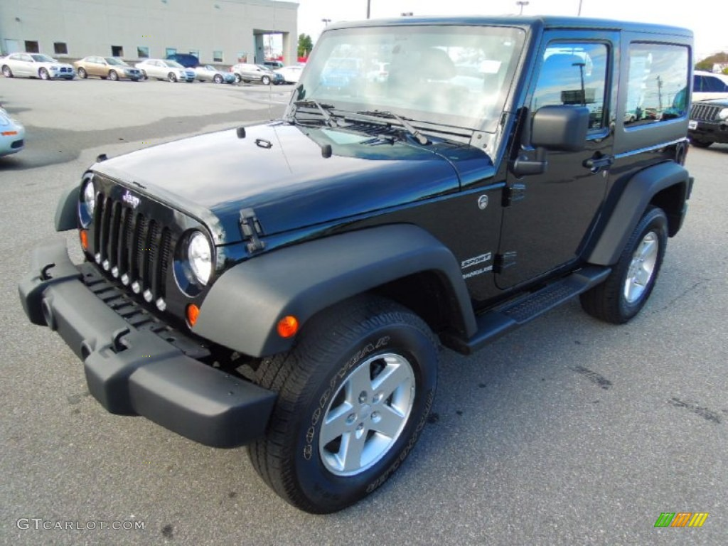 2012 Wrangler Sport 4x4 - Black Forest Green Pearl / Black photo #1