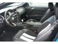 2012 Ford Mustang Charcoal Black/White Interior Front Seat Photo