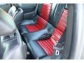 2009 Ford Mustang Dark Charcoal/Red Interior Rear Seat Photo