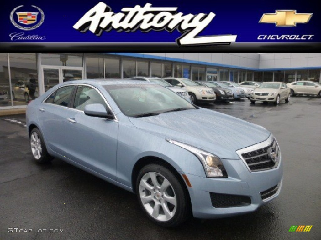 2013 Glacier Blue Metallic Cadillac Ats 2 0l Turbo Awd 77042773 Photo 14 Car